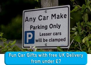 Fun car gift Unique gift for new car owner,  UK  Metal  Parking Only Sign.gift  Driving test pass gifts under £7